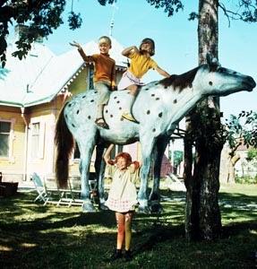 Paard van Pippi Langkous (Witje)