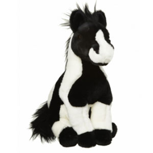 Paarden Knuffel Zwart-Wit