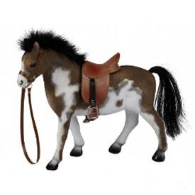 Speelgoedpaard met Zadel Gevlekt