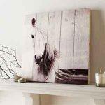 Houtprint Paard Wanddecoratie Graham & Brown Horse