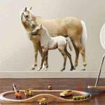 Muursticker Paard en Veulen