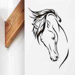 Muursticker Paardenhoofd