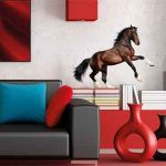Paarden Muursticker Steigerend Paard