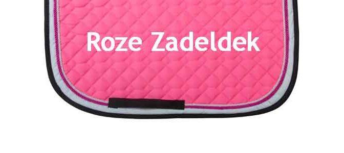 Roze Zadeldek Kopen Prijs Aanbiedingen Voorbeelden