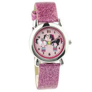 Roze Paarden Horloge met Armband
